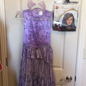 Descendants Mal Costume & Wig